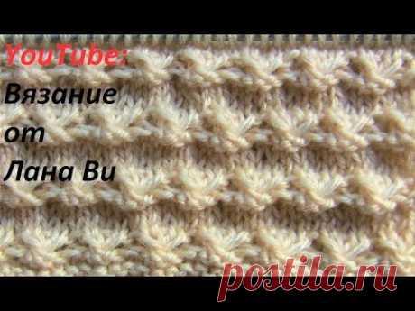 Вязание спицами: интересный узор - альтернатива простой вязке. Узор корзиночки/звездочки спицами