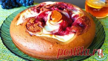 Пирог на кефире с вареньем и творогом Кулинарный рецепт
