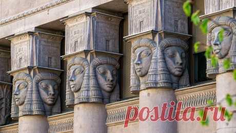 Пешком по городу. Удивительный Египетский дом на Захарьевской улице | 4traveler | Яндекс Дзен