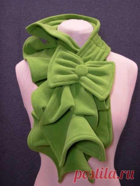 Теплый, мягкий, оригинальный и красивый шарф можно сшить очень быстро . Милая Я
