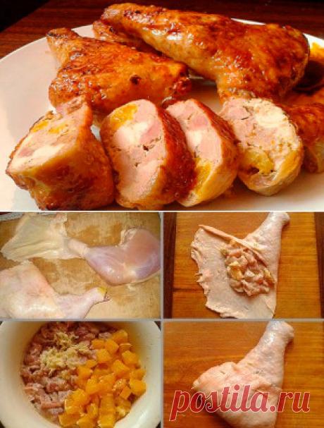 Las gallináceas rellenadas de la pata de gallina