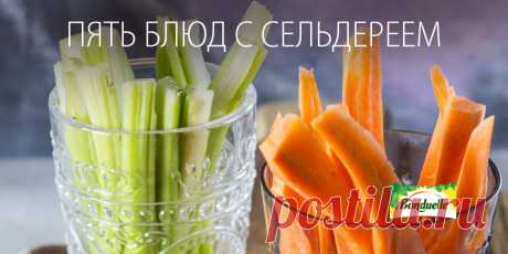 Five dishes with a celery - the Blog of tasty recipes with a photo and video