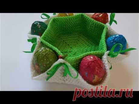 Пасхальная корзинка крючком/Поделка к пасхе