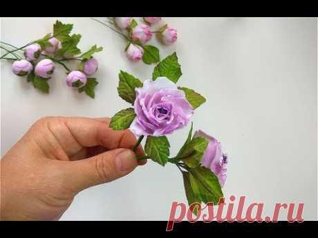 Маленькие розы из фоамирана мастер класс для начинающих