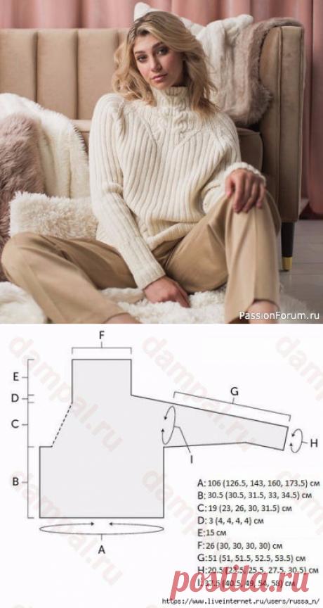 Вязание свитера спицами | Вязание для женщин спицами. Схемы вязания спицами