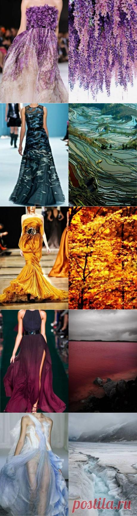 Платья, навеянные красотой природы