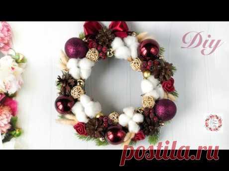 Новогодний Рождественский Венок Christmas wreath Своими руками DIY 2019 Новогодний Декор