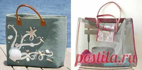 Как сшить пляжную сумку своими руками из ткани - выкройки