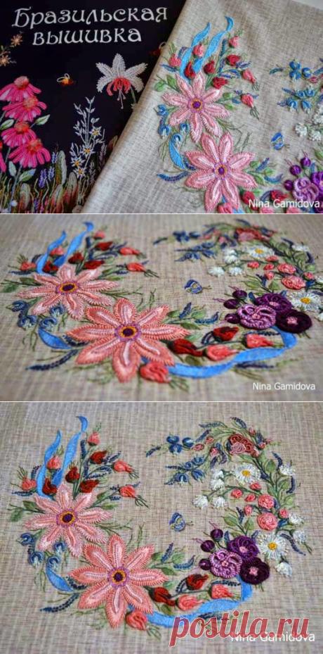 Карусель рукоделия: Объемная Бразильская вышивка.