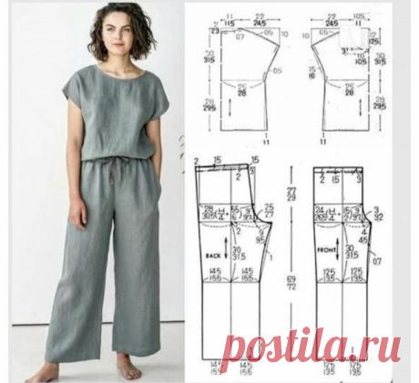 Выкройка женского комбинезона Модная одежда и дизайн интерьера своими руками