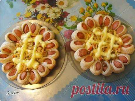 Пицца-цветочек. Вкусный и красивый вариант - Простые рецепты Овкусе.ру