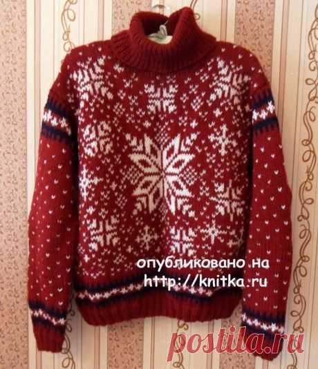 Женский и мужской свитера с норвежскими узорами, Вязание для женщин