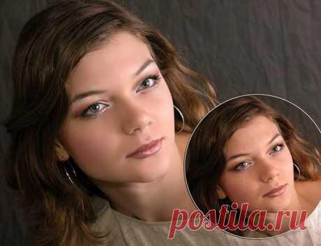 Экспресс ретушь в photoshop в два слоя.