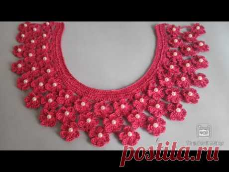crochet beautiful yoke for girl (বড়দের কুশিকাটার গলা টিউটোরিয়াল ) by sui suta