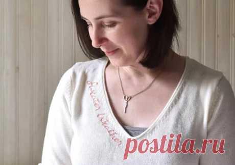 Идея: вышивка на трикотаже с помощью кальки — Мастер-классы на BurdaStyle.ru