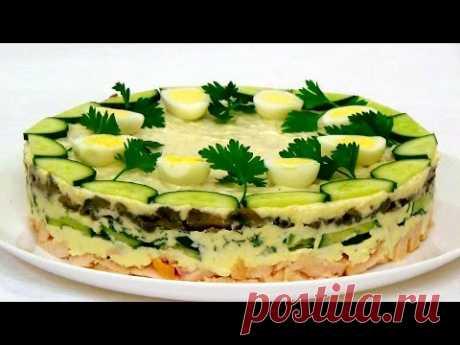 """La ensalada \""""la Gallinita de Ryaba\"""". La ensalada para la mesa de fiesta. La receta poshagovyy."""
