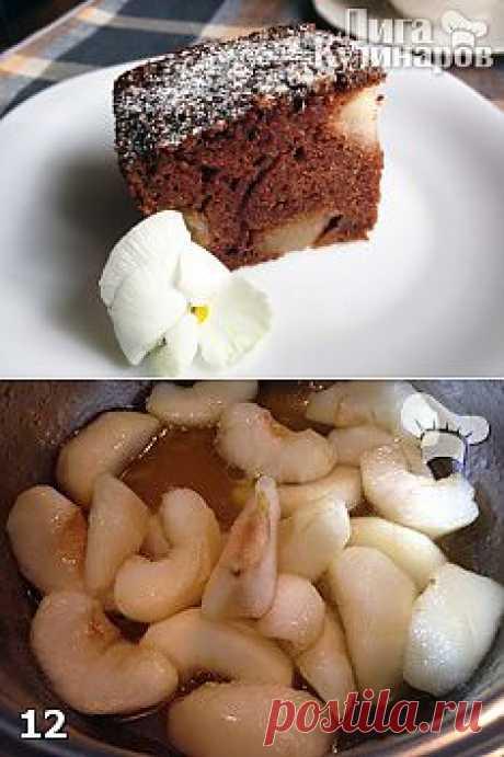 Шоколадный манник с карамельными яблоками — рецепт пошаговый от Лиги Кулинаров