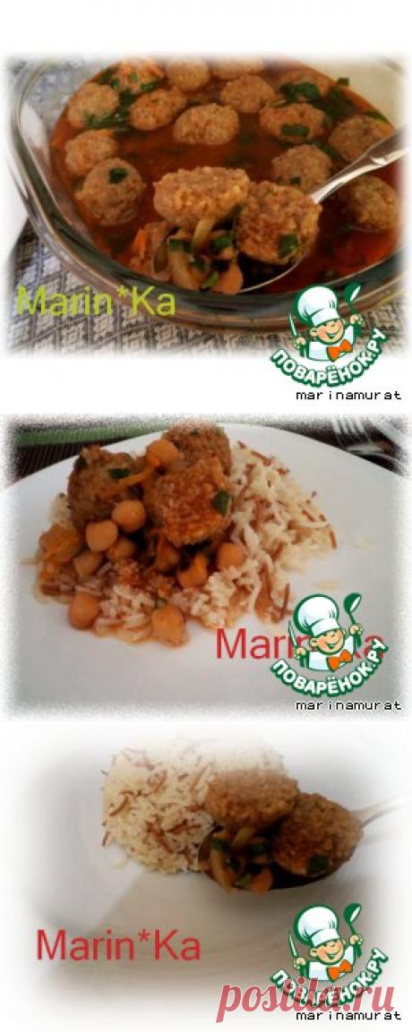Мясные шарики с булгуром по-восточному - кулинарный рецепт