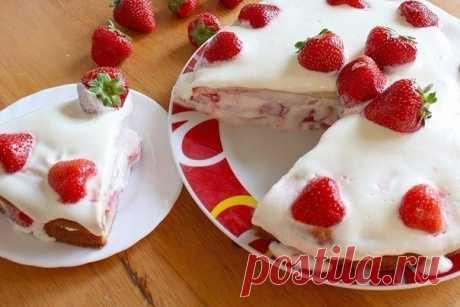Как приготовить торт клубника - рецепт, ингредиенты и фотографии
