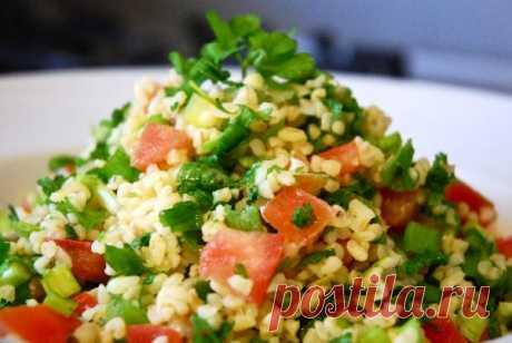 Табуле — восточный салат с лимонно-масляной заправкой — Готовим дома