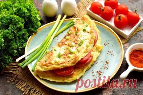 Завтрак из лаваша и яиц