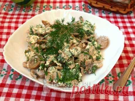 Закуска из маринованных шампиньонов — рецепт с фото