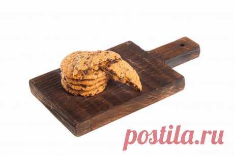 Печенье с шоколадной крошкой пошаговый рецепт с видео и фото