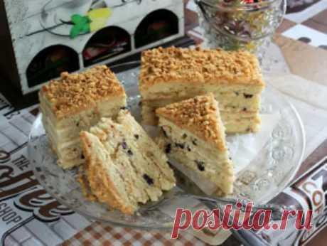 Торт с черносливом и сметанным кремом - Домашняя выпечка - медиаплатформа МирТесен
