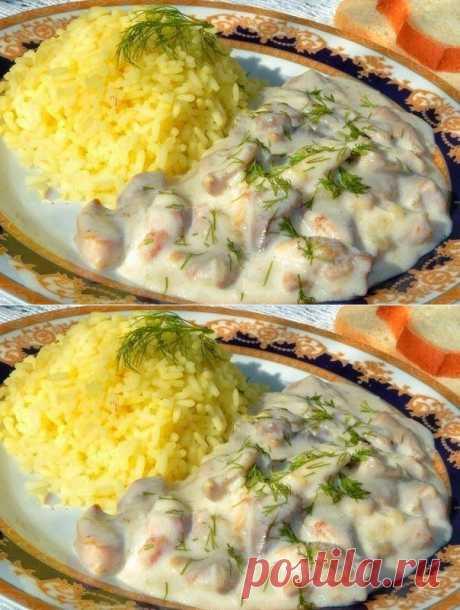 Лучшие кулинарные рецепты: Нежная курица в молочно - чесночном соусе!