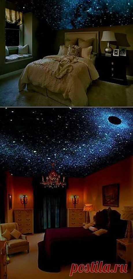 Звёздное небо - это оригинальный трёхмерный рисунок ночного неба на потолке или стенах, с тысячами светящихся в темноте звёзд  ПО – РУССКИ!