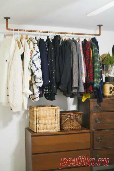 Нет шкафа — нет проблем. Лучшие идеи по организации системы хранения! | Тысяча одна идея