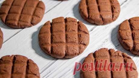 Готовлю шоколадное печенье на скорую руку без раскатки теста (на вкус как шоколадка) | Евгения Полевская | Это просто | Яндекс Дзен