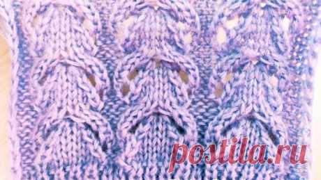 Ажурный узор для свитера, кофты, шапки и кардигана. Вязание спицами.