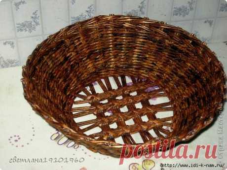 ажурная крышка (или донышко) для плетенок из газет