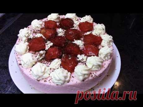 Творожно йогуртовый торт- нарядный, легкий и очень вкусный  !
