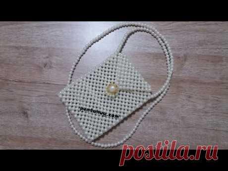 วิธีทำ กระเป๋าไข่มุก แบบที่ 1 กระเป๋าลูกปัด กระเป๋ามุก กระเป๋าลูกปัดมุก How to make a pearl bead bag