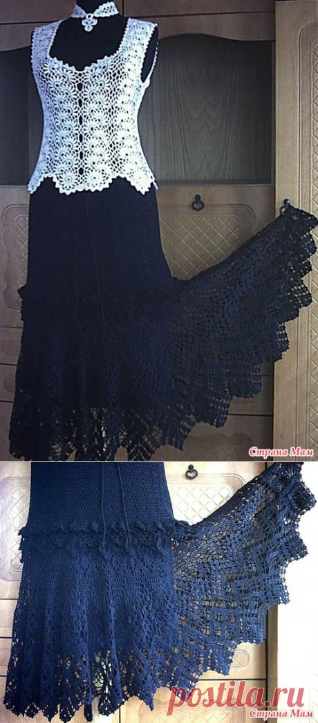 Черная юбка с широкой каймой и кофточка СОБЛАЗН