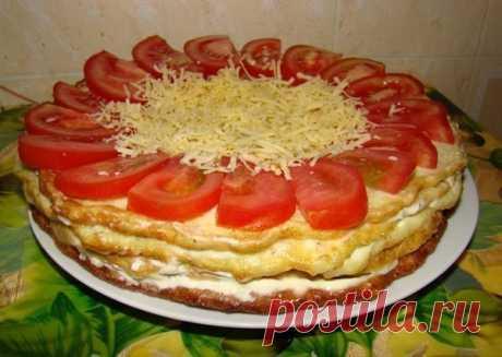 Как приготовить закусочный торт из кабачков - рецепт, ингредиенты и фотографии