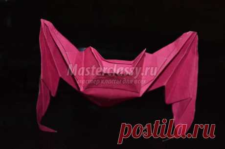 Оригами животные. Летучая мышь. Мастер-класс с пошаговыми фото