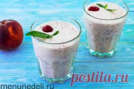 Рецепт смузи с персиком и малиной