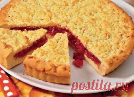 Лучшие кулинарные рецепты : Песочный пирог с вареньем