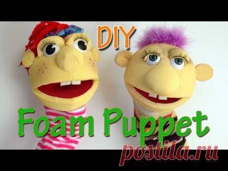 How to make a Foam Puppet - Ana | DIY Crafts.