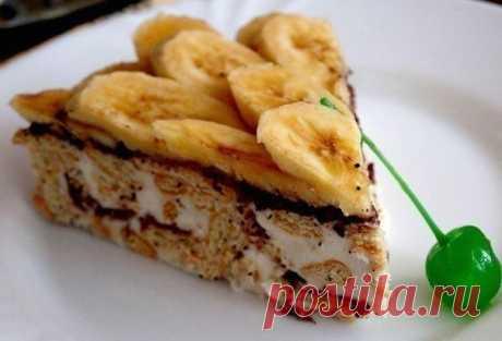 Торт из крекера (печенья) – очень популярный, быстрый, легкий рецепт — Едим дома