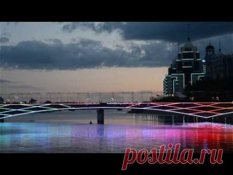 Вечерняя Астана, набережная | Кругозор - YouTube