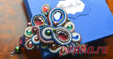 Создаем браслет «Королевский стиль» из сутажа с кристаллами Swarovski