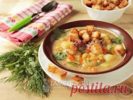 Гороховый суп с тушенкой в мультиварке — рецепт с фото Вкусный и сытный гороховый суп с тушёнкой приятно разнообразит ваше меню и порадует домочадцев.
