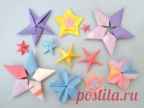 Звёздочки-оригами