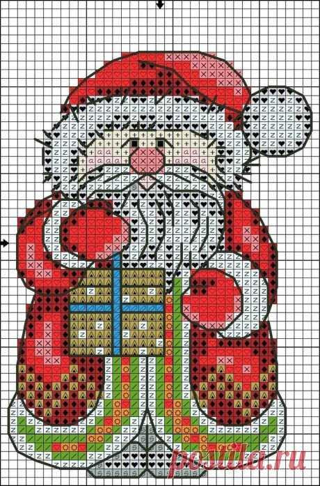 Схема для вышивки крестиком бисером к нг и Рождеству
