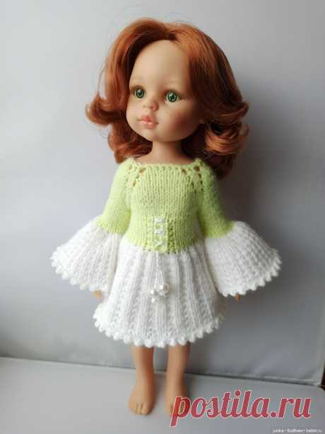 Платье «Ландыш» для Паола Рейна спицами / Одежда и обувь для кукол своими руками / Бэйбики. Куклы фото. Одежда для кукол
