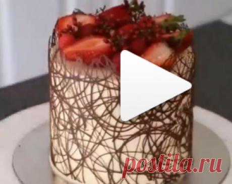 Классная идея оформления торта!